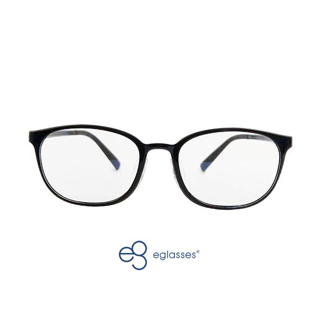 【EGlasses。眼鏡物語】PPSU奶瓶材質鏡框兒童濾藍光眼鏡-亮黑 (EGK6002C02-02)