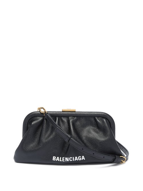 Balenciaga - Cloud Xs Leather Cross-body Bag - Womens - Black