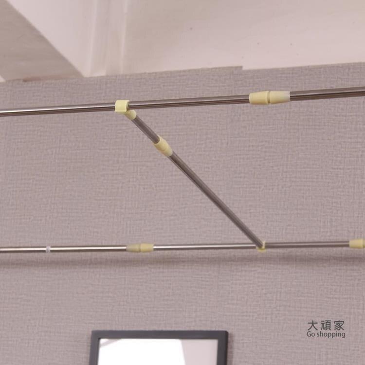 宿舍床簾支架桿 學生宿舍蚊帳床簾支架可伸縮雙層單人床寢室上下鋪不鏽鋼架子桿子