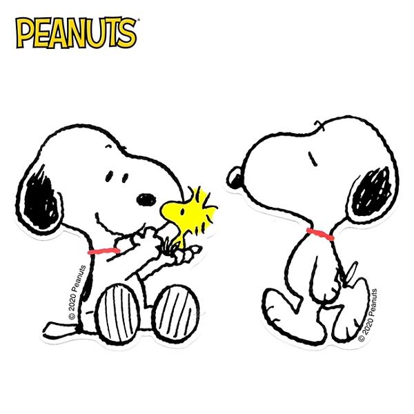 【日本正版】史努比 防潑水 貼紙 行李箱貼 手帳貼 裝飾貼紙 Snoopy PEANUTS 291924 291931