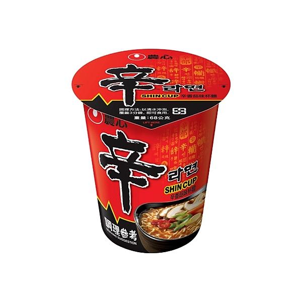 韓國 農心 辛香菇味杯麵(68g) 【小三美日】進口/泡麵/團購