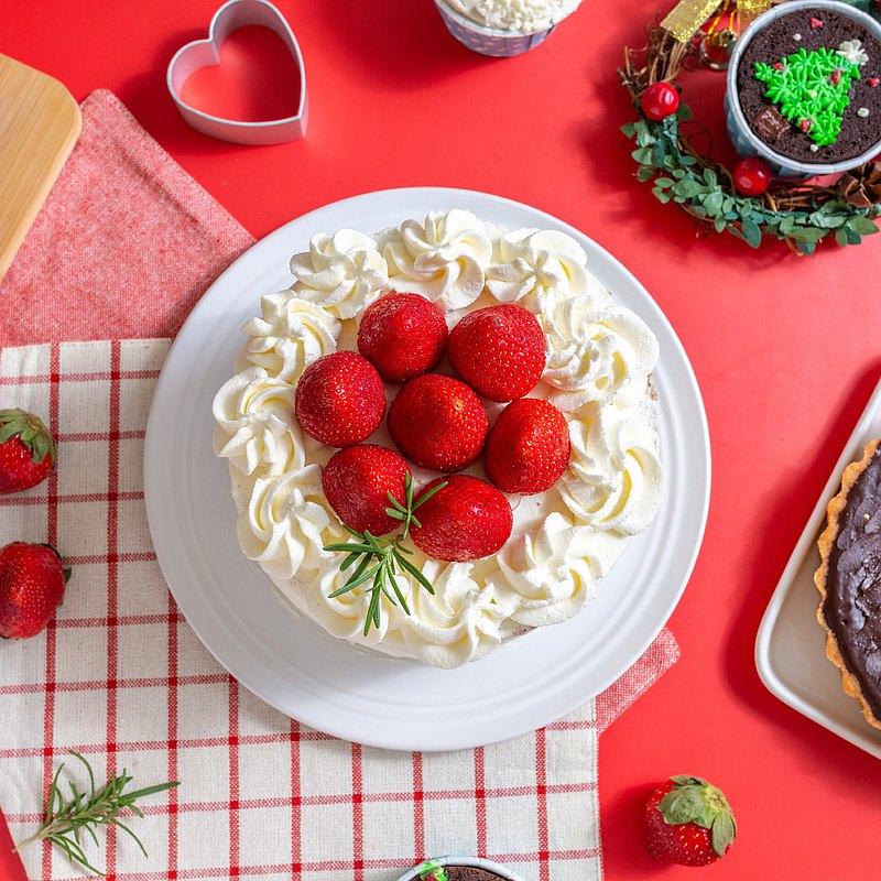 草莓季/耶誕雪莓伯爵蛋糕/生酮/甜點