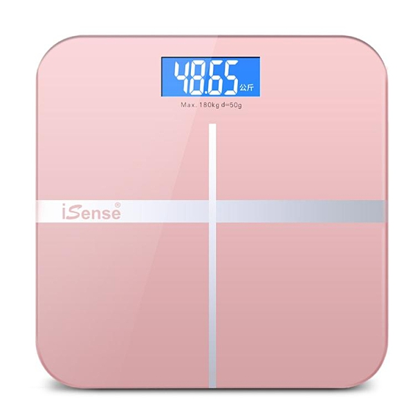 iSense充電款電子稱小型體重秤高精度家用人體秤精準耐用家庭稱重