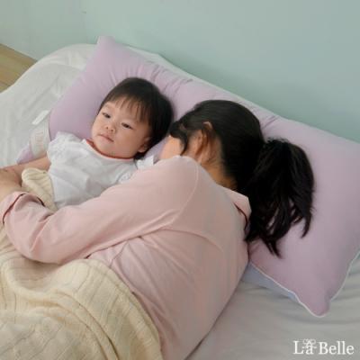 義大利La Belle 日本防蹣抗菌可水洗馬卡龍親子枕 夢幻藍X甜心紫