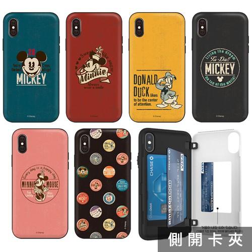 韓國 迪士尼 古著風格 手機殼 側開卡夾│LG G7 G8 V40 V50 V50s G8X