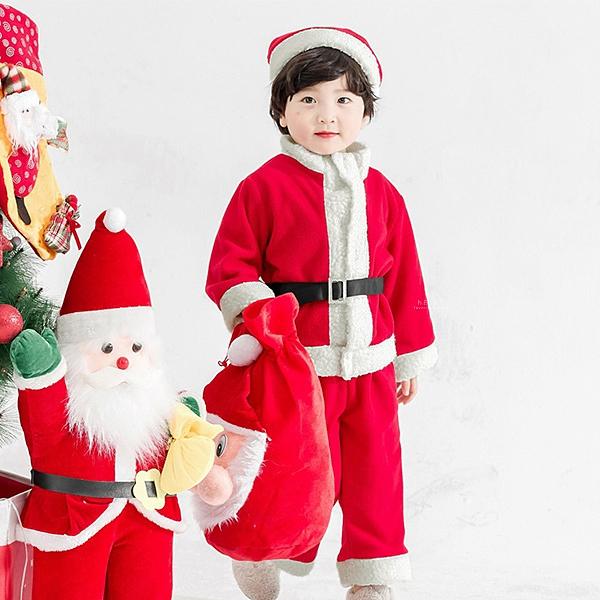 聖誕男童長袖長褲套裝 附聖誕帽 童裝 套裝 聖誕童裝