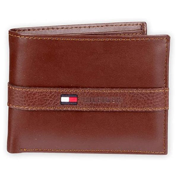 Tommy Hilfiger 雙折信用卡皮夾(白蘭地色)