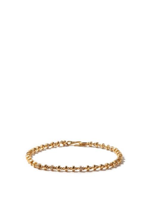 M Cohen - The Mini Omni Diamond & 18kt Gold Bracelet - Mens - Yellow Gold