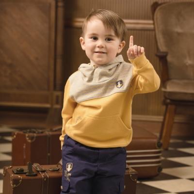 奇哥 紳士比得舖棉長褲-藍 (2-5歲)