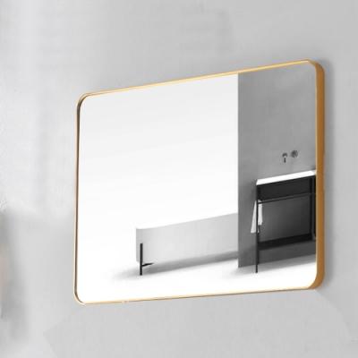 鋁框鏡系列-四方圓角鏡-鈦金 80x60cm