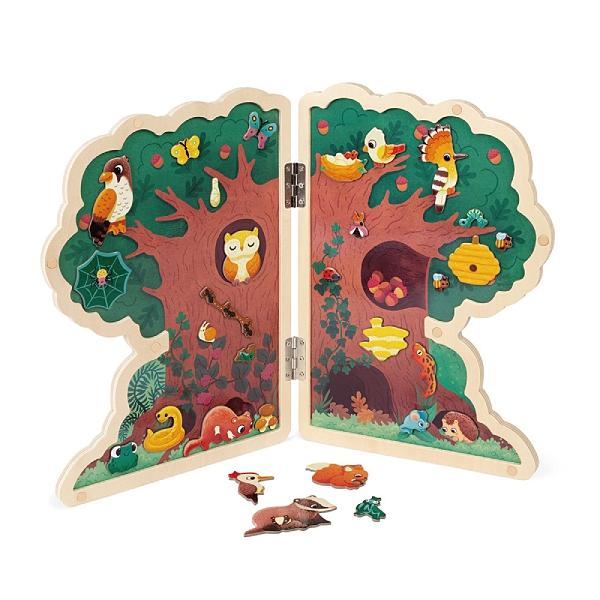 法國 Janod 磁鐵遊戲板-快樂樹屋