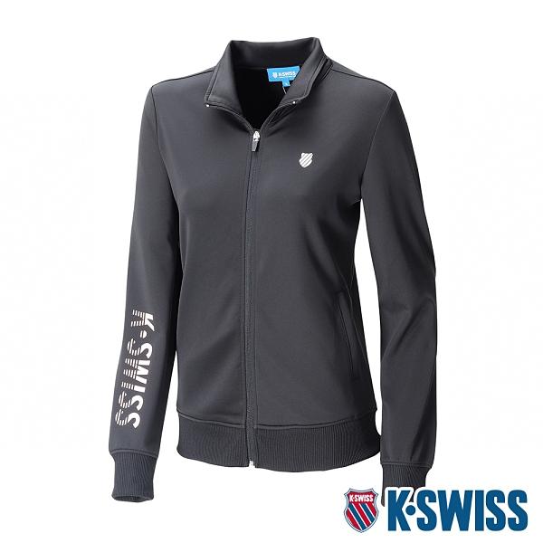 K-SWISS Knit Jacket運動外套-女-黑
