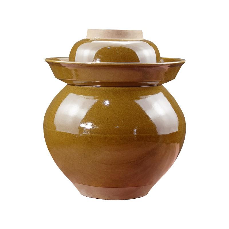 四川老式泡菜壇子土陶加厚酸菜腌菜壇子家用小號水密封陶瓷咸菜罐