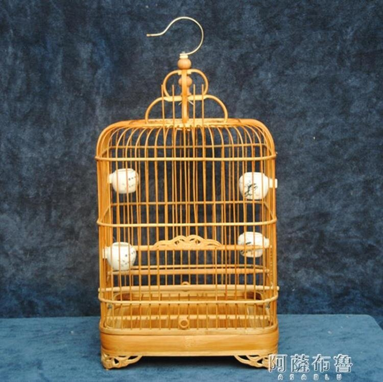 鳥籠 鳥籠竹制鳥籠老竹四角籠玉鳥芙蓉鳥珍珠鳥相思鳥籠質量保證