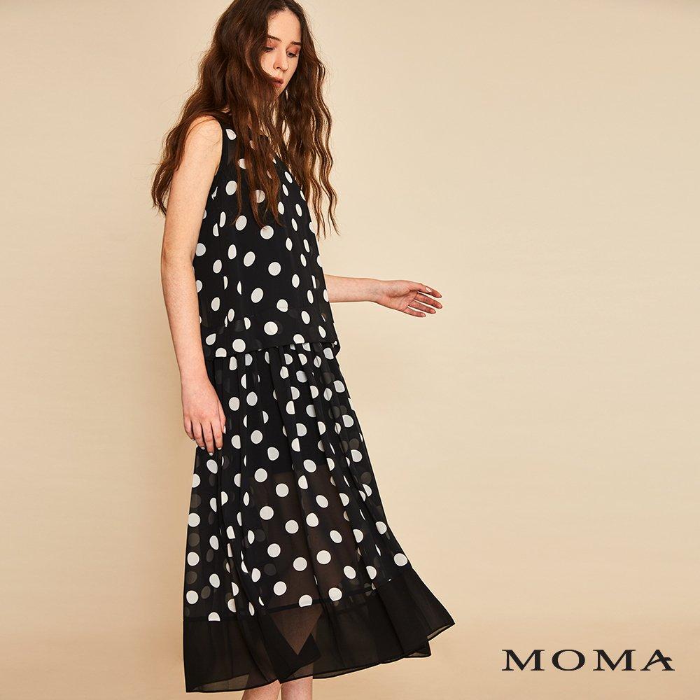 MOMA(01D041)波點無袖長洋裝