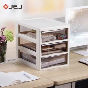 【日本JEJ】辦公桌上型A4文件收納櫃-3大抽米白