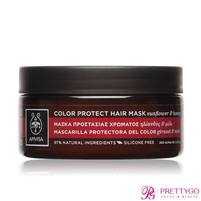 希臘APIVITA 艾蜜塔 修護持色髮膜(200ml)-百貨公司貨