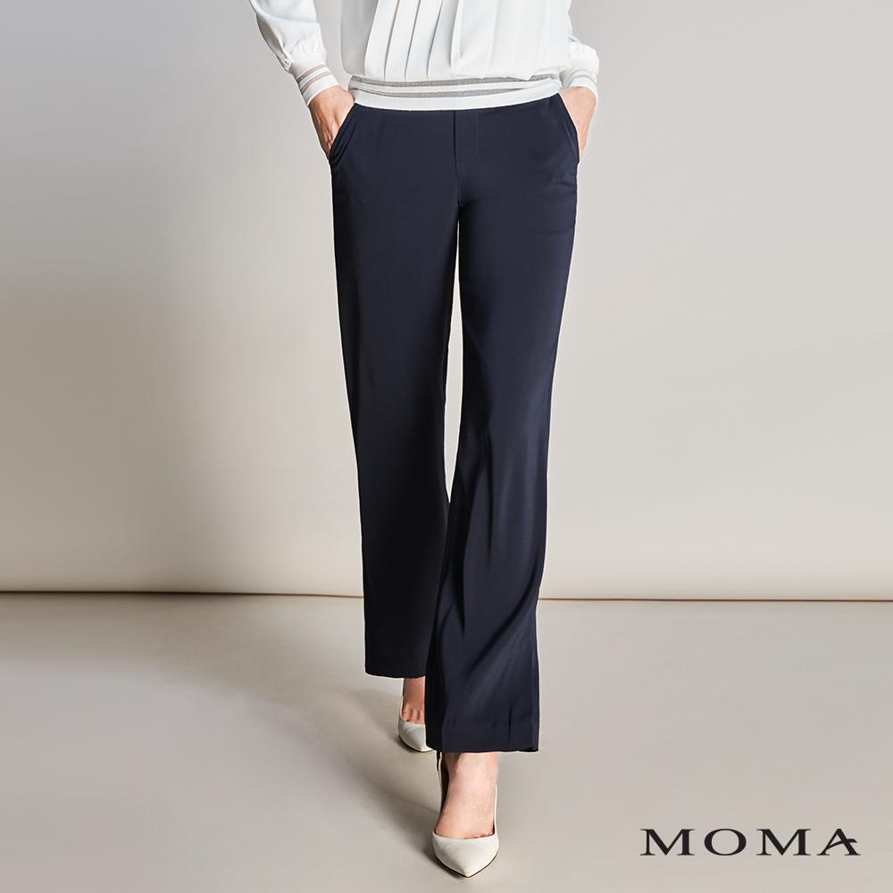 MOMA(01P028)字母裝飾開衩長褲