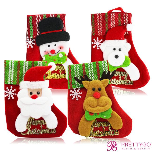 O'Pretty 歐沛媞 玩偶造型聖誕襪-字母 多款任選(12x15cm)-耶誕佈置交換禮物【美麗購】