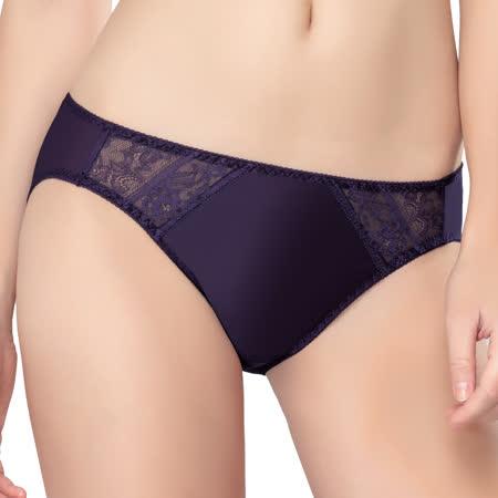 【思薇爾】維納斯系列M-XL蕾絲低腰三角內褲(王雀藍)