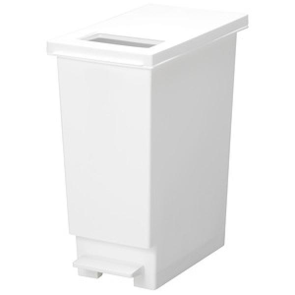 【日本 TONBO】UNEED系列推蓋踩踏雙用型垃圾桶30L-白色