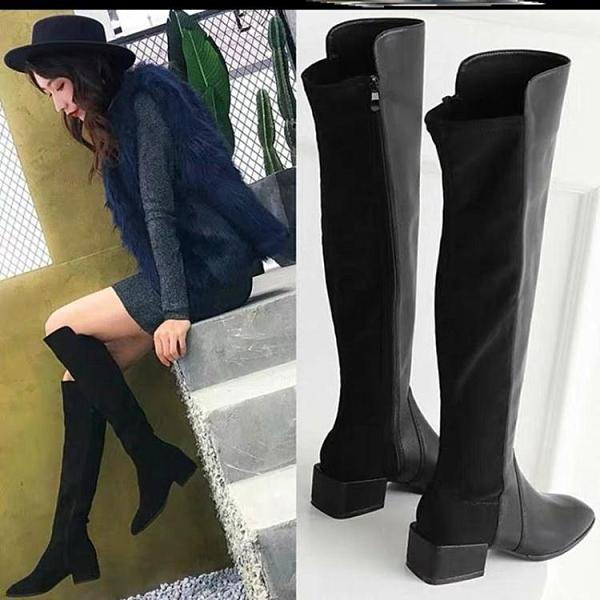 長靴 馬靴女長筒靴粗腿過膝長靴女靴子冬新款騎士靴粗跟高跟長靴顯瘦 風馳