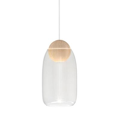 Liuku 朝露 球形吊燈(原木、透明玻璃)