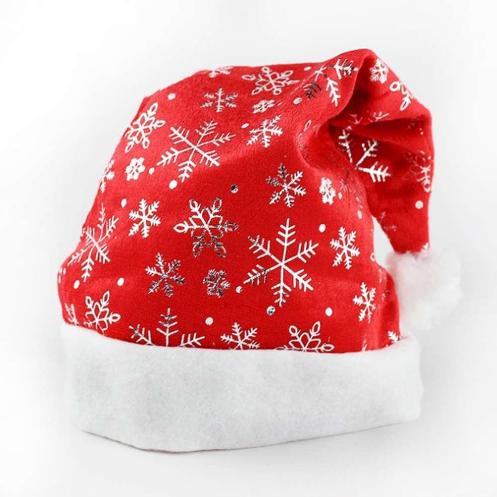 【摩達客】耶誕派對-毛絨邊雪花造型聖誕帽