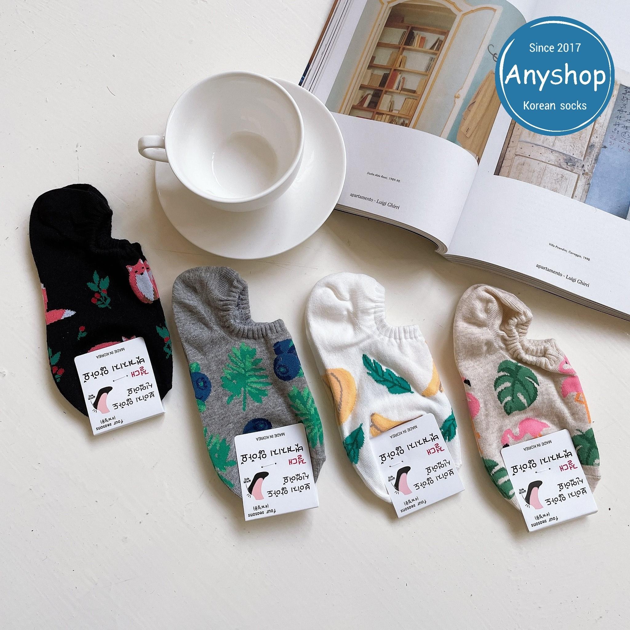 韓國襪-[Anyshop]夏季植物動物極短襪