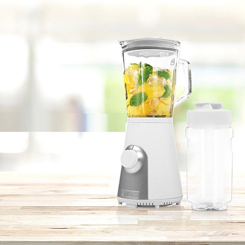 荷蘭PRINCESS Blend2Go玻璃壺果汁機 (消光白)