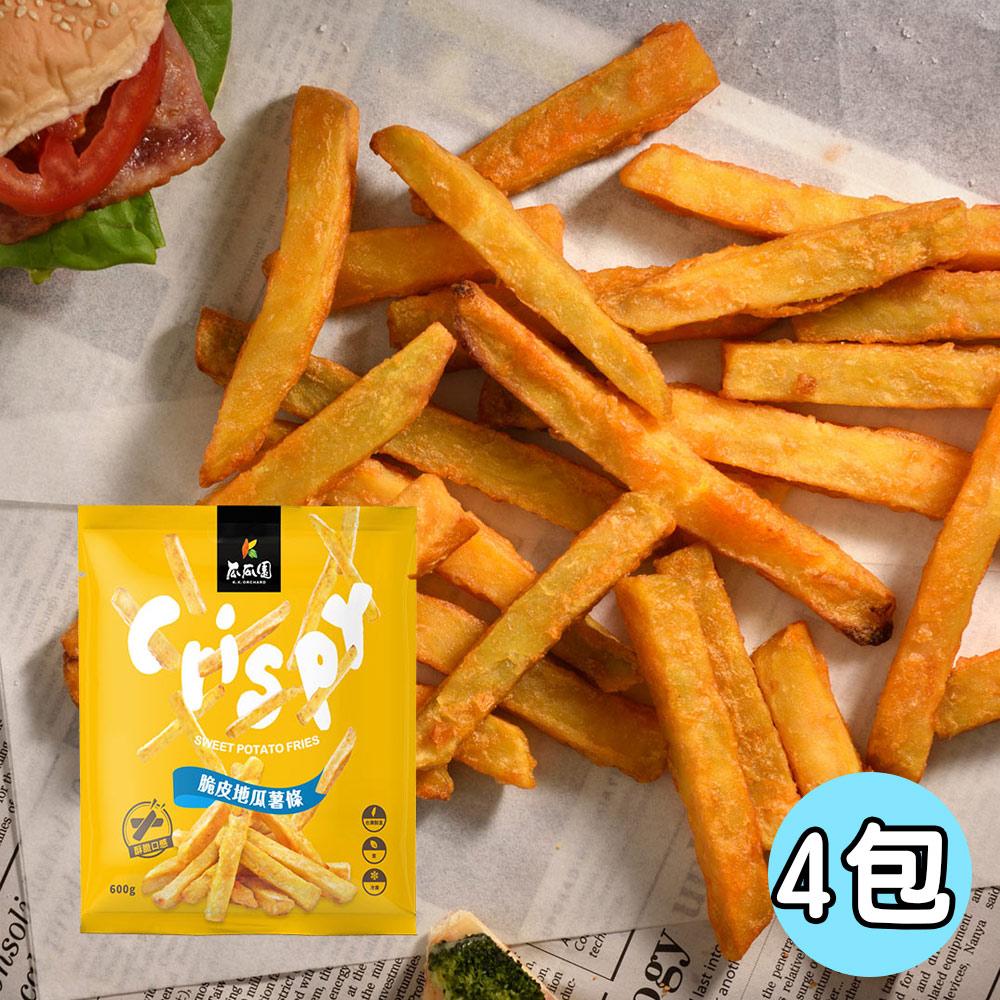 瓜瓜園 嚴選台農57號脆皮地瓜薯條4包(600g/包)