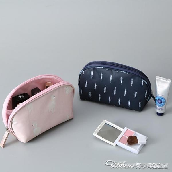 (免運)化妝包 旅行便攜式大容量手拿收納袋簡約小號防水