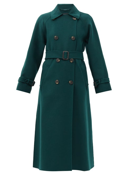 Weekend Max Mara - Potente Trench Coat - Womens - Dark Green