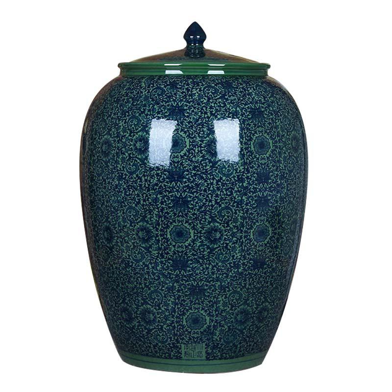 景德鎮陶瓷20斤50斤100斤儲米缸米桶油缸腌菜腌肉缸水壇水缸酒壇
