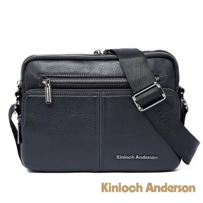 【金安德森】都會簡約 商務橫式拉鍊側背包-黑色