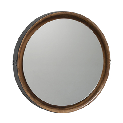 Sophie Mirror 蘇菲 皮框掛鏡(大、Ø 61cm)