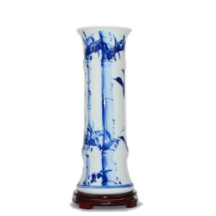 【雙十一優惠價全場85折】陶瓷富貴竹花瓶擺件客廳加厚高大號落地直筒水培插花裝飾品