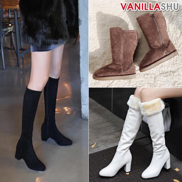 [banilasche] FW 女性長筒靴/毛皮/人氣/女性/舒適/高腰鞋