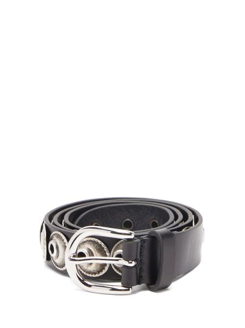 Isabel Marant - Zappi Embellished Leather Belt - Womens - Black