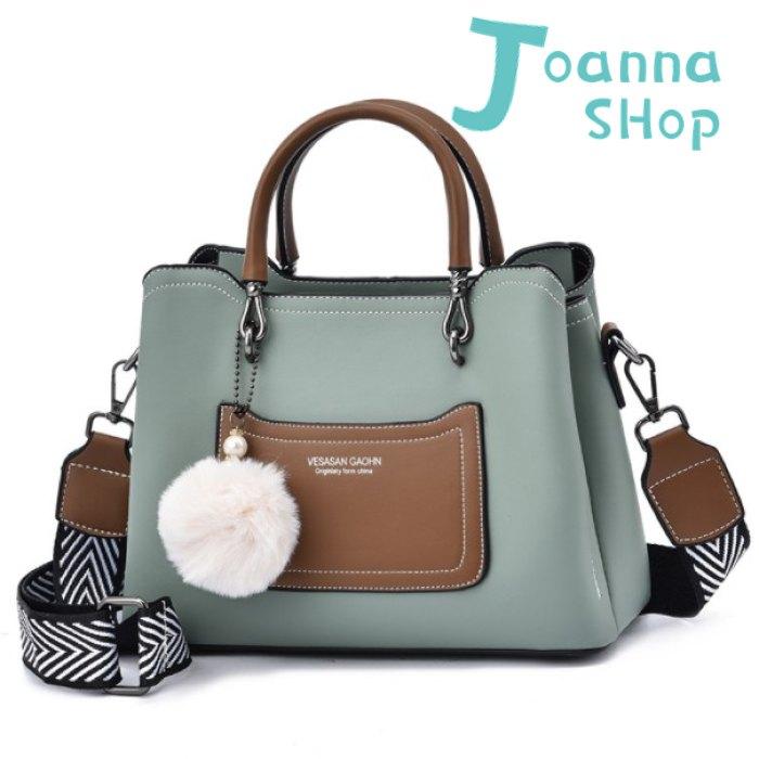 優雅質感LA球球手提斜背包2-Joanna Shop