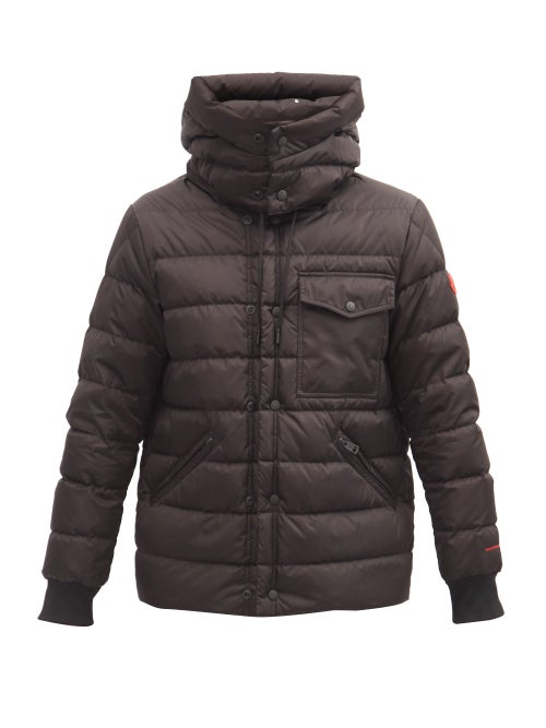 Moncler - Gaite Hooded Recycled-fibre Quilted Down Jacket - Mens - Black