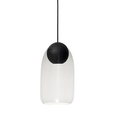 Liuku 朝露 球形吊燈(黑、透明玻璃)