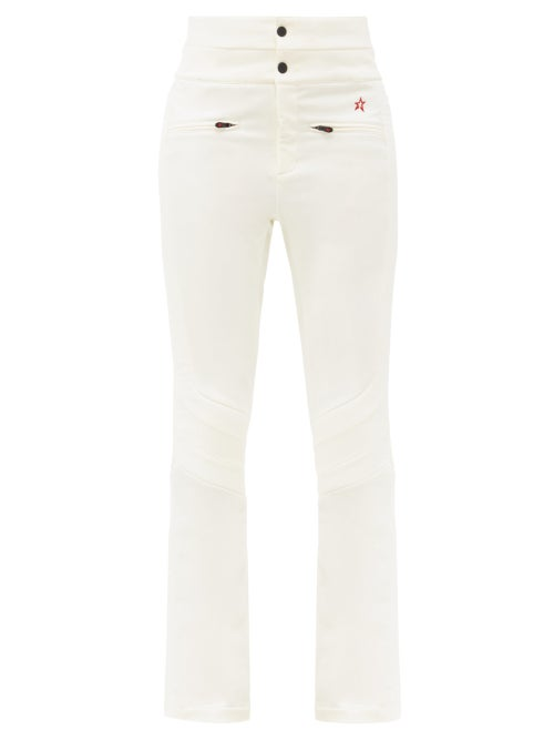 Perfect Moment - Aurora Flared Ski Trousers - Womens - White
