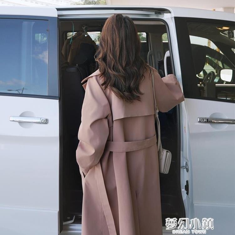 女士風衣秋季新款韓版氣質大衣英倫風休閑過膝長款時尚外套女 新年鉅惠