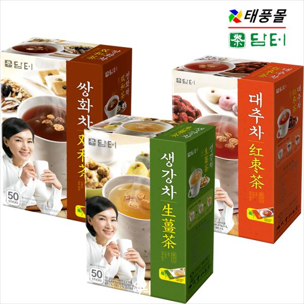 [颱風商城] 淡綠色生薑茶/雙花茶/大棗茶 50T [薏米茶/天麻茶/米粉/熱巧克力]