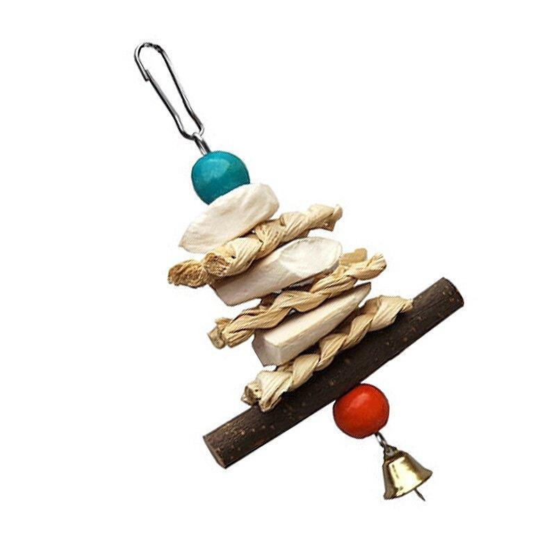 天然墨魚骨啃咬鈴鐺串 小寵補鈣聖品 鸚鵡/兔子/倉鼠