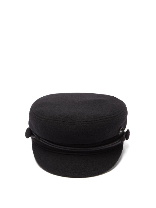 Maison Michel - Abby Wool Felt Baker Boy Cap - Womens - Black
