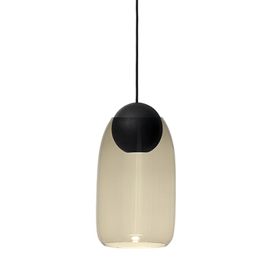 Liuku 朝露 球形吊燈(黑、煙燻玻璃)