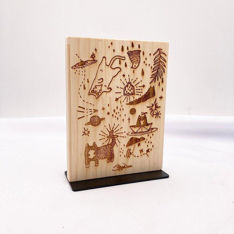 木頭客製立牌 木頭招牌LOGO標示牌 品牌圖案雕刻 公告看板雕刻