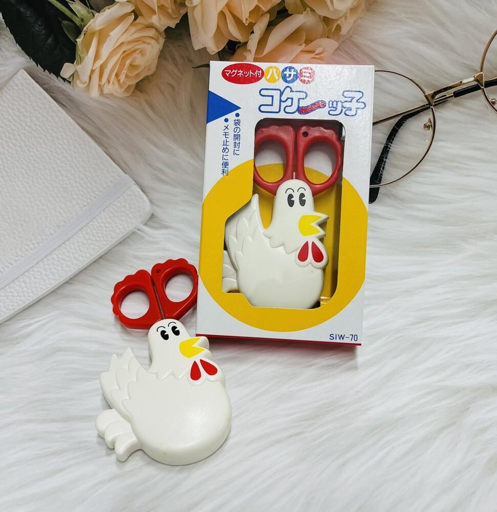 潼漾小舖 日本 公雞造型 附磁鐵剪刀 可吸附在冰箱上 siw-70